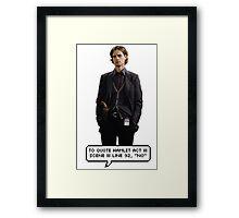 Spencer Reid Criminal Minds Framed Print