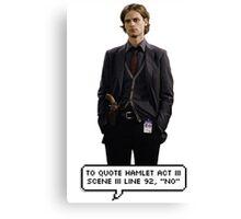 Spencer Reid Criminal Minds Canvas Print