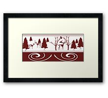 Scary Red Winter Framed Print