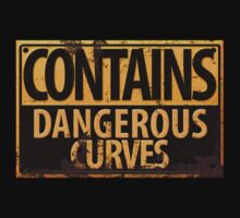 Contains Dangerous Curves Warning Sign by RedeyeDigital