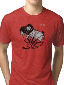 Custom sagittarius-leo-ox DoubleZodiac Tri-blend T-Shirt