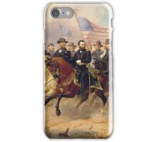Ole Peter Hansen Balling - Grant and His Generals iPhone Case/Skin