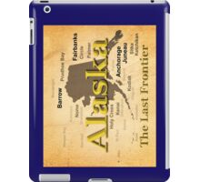 Aged Alaska State Pride Map Silhouette  iPad Case/Skin