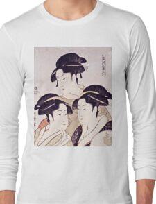 Kitagawa Utamaro  -  Three Beauties Of The Present Day  Long Sleeve T-Shirt