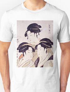 Kitagawa Utamaro  -  Three Beauties Of The Present Day  Unisex T-Shirt