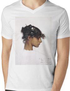 John Singer Sargent - Head Of A Capri Girl  Mens V-Neck T-Shirt