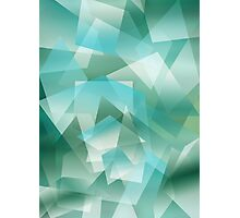 Abstract green geometric pattern Photographic Print
