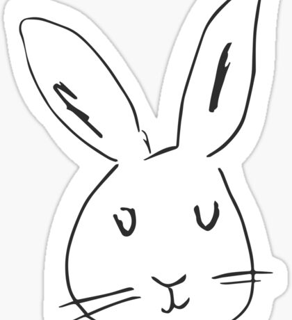 Rabbit on white background. Cute rabbit cartoon.  Sticker