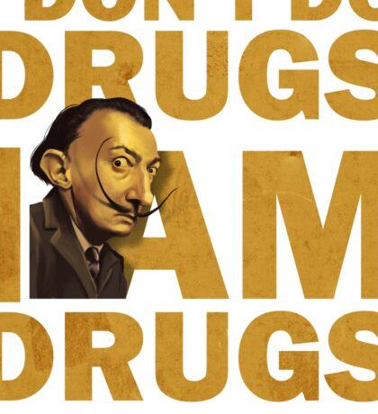 Salvador Dali , i am drugs Sticker