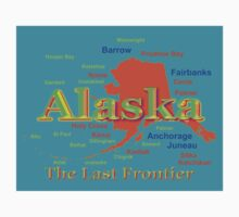 Colorful Alaska State Pride Map Kids Clothes