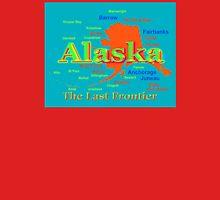 Colorful Alaska State Pride Map T-Shirt