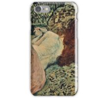Henri de Toulouse Lautrec -  Two Friends (1895)  iPhone Case/Skin