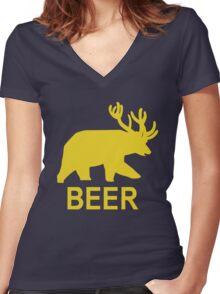 BEER - Life is Strange Women's Fitted V-Neck T-Shirt