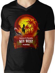 Open Beach Key West Mens V-Neck T-Shirt