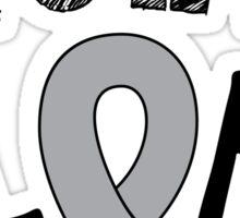 Brain Cancer Awareness Ribbon Sticker