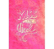 Kiss the geek Photographic Print