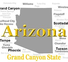 Arizona State Pride Map Silhouette  by KWJphotoart