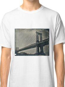 Manhattan Bridge 4x5 wet plate collodion tintype Classic T-Shirt