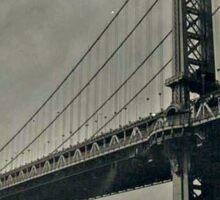 Manhattan Bridge 4x5 wet plate collodion tintype Sticker