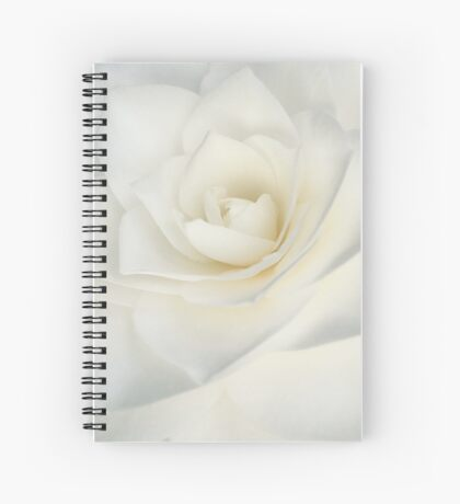 White Camellia Spiral Notebook