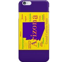 Colorful Arizona State Pride Map Silhouette  iPhone Case/Skin