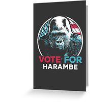 Vote for Harambe Greeting Card