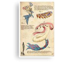 Pokemon Zoography: Milotic Canvas Print