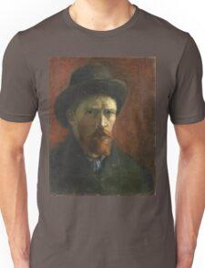 Vincent Van Gogh - Self Portrait With Dark Felt Hat, 1886 Unisex T-Shirt