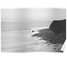 Lonely Surfer - Zumma Beach California   Poster