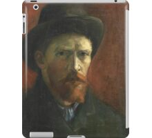 Vincent Van Gogh - Self Portrait With Dark Felt Hat, 1886 iPad Case/Skin