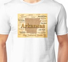 Aged Arkansas State Pride Map Silhouette  Unisex T-Shirt