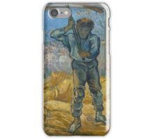 Vincent Van Gogh -  Thresher (After Millet), 1889 iPhone Case/Skin