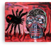 Black Widow Skull Canvas Print
