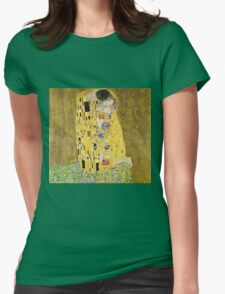 Gustav Klimt - The Kiss 1908 - 1909  Womens Fitted T-Shirt