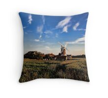 Cley windmill cley next the sea Throw Pillow