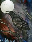 Full Crow Moon by Lynnette Shelley