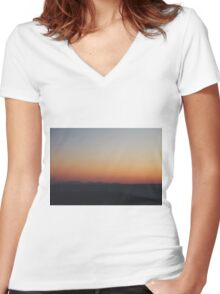 fading sky Women's Fitted V-Neck T-Shirt