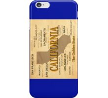 antique California State Pride Map  iPhone Case/Skin