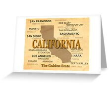 antique California State Pride Map  Greeting Card