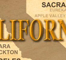 antique California State Pride Map  Sticker