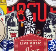 Dead Guy Shiner Collage Sticker