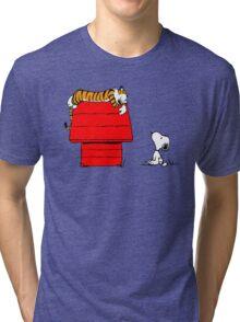 SNOOPY VS HOBBES Tri-blend T-Shirt