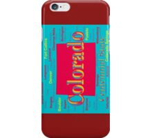 Colorful Colorado State Pride Map Silhouette  iPhone Case/Skin