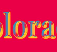 Colorful Colorado State Pride Map Silhouette  Sticker