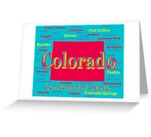 Colorful Colorado State Pride Map Silhouette  Greeting Card