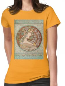 Alphonse Mucha - Ivy, 1901  Womens Fitted T-Shirt