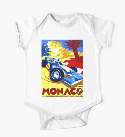 MONACO GRAND PRIX; Vintage Auto Racing Print One Piece - Short Sleeve
