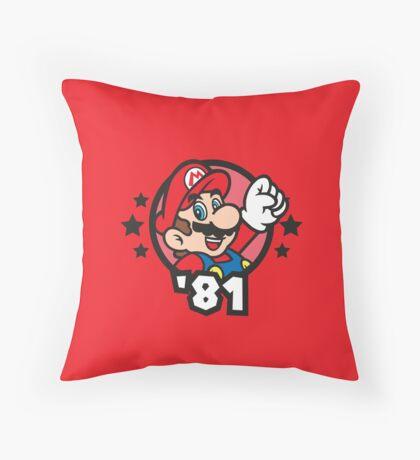 Video Game Heroes - Mario (1981) Throw Pillow