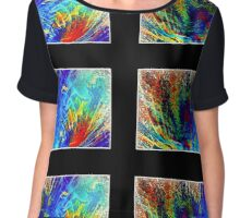 Abstract  #4 Chiffon Top