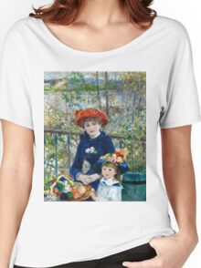 Renoir Auguste - Two Sisters (On the Terrace) (1881)  Women's Relaxed Fit T-Shirt